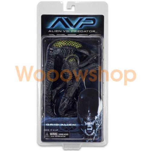 "NECA Grid Alien Xenomorph Warrior AVP 7/"" Action Figure 1:12 Aliens Series 7 New"