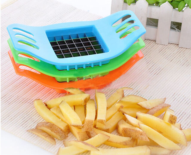 Potatoes Cutter Cut into Strips French Fries Tools Kitchen Gadgets  3 Colors  GS