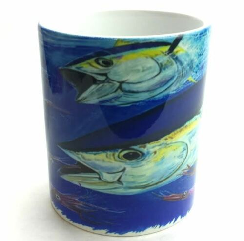 NEW Lobo Performance Gear Bigeye Tuna 11 oz Ceramic Fishing Mug Art by Mark Ray
