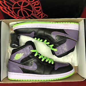 release info on 38d04 afaf3 Image is loading Nike-Air-Jordan-Retro-I-Joker-Black-Electric-