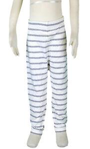 JACADI-Girls-Lerote-White-And-Grey-Striped-Leggings-Size-8-Years-NWT-44