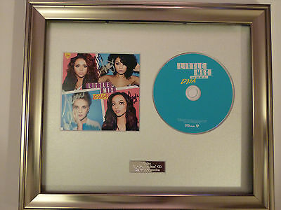 X FACTOR PERSONALLY SIGNED//AUTOGRAPHED FRAMED CD LITTLE MIX DNA CD