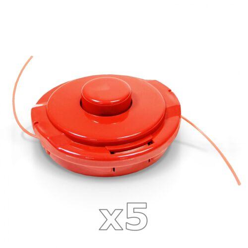5 x Fadenkopf Fadenspule Mähfaden 2,2mm für Motorsense Freischneider Ersatzspule