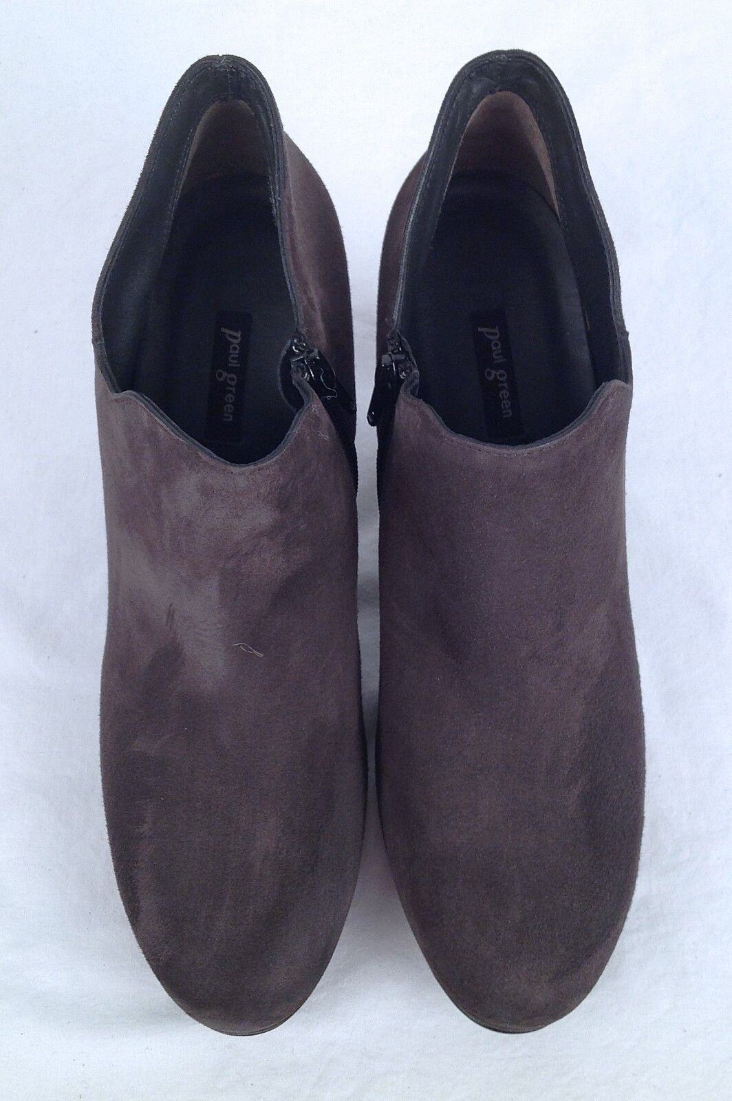 New!!Paul Green 'Jazzy' Bootie- Grey Suede- Size 10 US/ 7.5 AU $380- (P4)