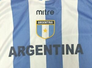 hot sale online 11c8b d4091 Details about Mitre Argentina National Soccer Team Jersey Adult Size Large  Blue, White NWT NEW