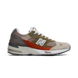 New-Balance-991-Sneaker-Uomo-M991NGO-Green-Orange