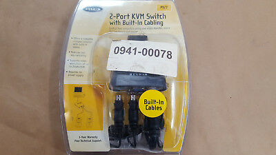 1pc. F1dk102p Belkin 2-port Kvm Switch With Built-in Cabling - Kvm Switch