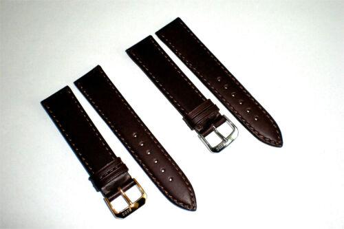 Echt Juchten Leder Uhrenarmband flach mokka 20mm - NEU!