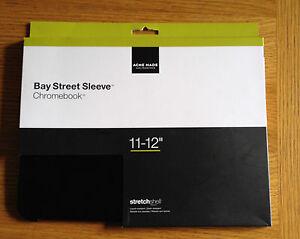 Acme-Made-Bay-Street-Sleeve-Case-Cover-For-Chromebook-11-12-034-Matte-Black