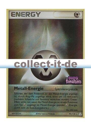 Metall-Energie Reverse Holo Deutsch Pokemon EX Holon Phantoms 95//110
