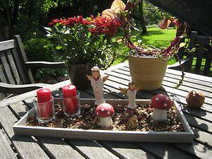 Dekoschale Tischdeko Kerzentablett Weihnachtsdeko Weihnachten