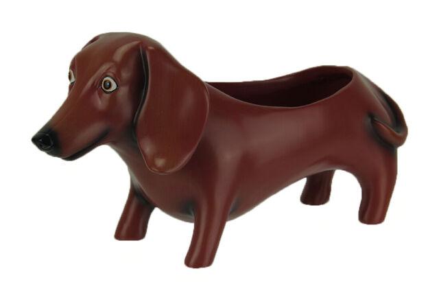 Oscar the Dachshund Dog Indoor/Outdoor Planter Statue