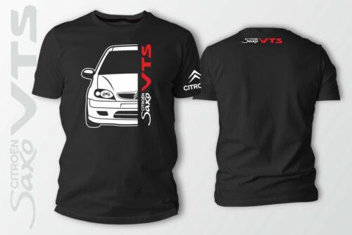 CITROEN SAXO voiture Auto T-shirt noir 100/% coton XS-5XL
