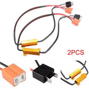 2x-50W-LED-DRL-Fog-Light-Canbus-Load-Resistor-Decoder-Cancel-H7-Set-For-12V-Car