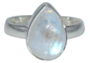 Anillo-de-plata-esterlina-Arco-Iris-Gemas-natural-925-joyas-Tamanos-L-A-Z