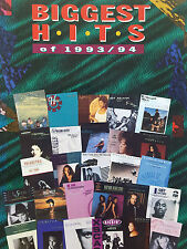 Biggest Hits Of 1993/94 (Piano/Vocal/Guitar Songbook) - OUT OF PRINT, MINT!