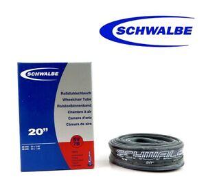 Schwalbe-SV7B-20-034-x0-9-1-Presta-Ventil-BMX-Faltrad-Inner-Reifen-1-Schlauch