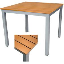Gartentisch alu 90x90  SonnenPartner Gartentisch Base Gestell Alu Anthrazit platte Old Teak ...