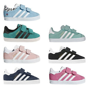ADIDAS ORIGINALS GAZELLE Baskets Enfants Chaussures de Sport Fermeture Scratch