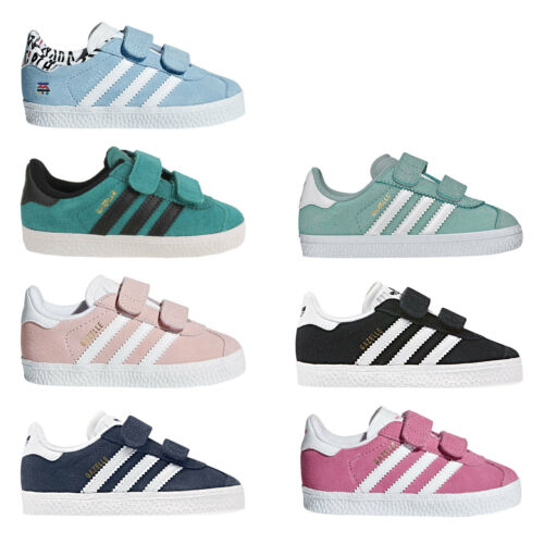 Adidas Originals Gazelle Kids Sneakers Trainers Sport Shoes Touch Fastener