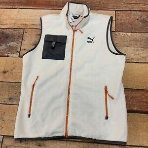 Puma-XTG-Trail-Pocket-Gilet-Fleece-Vest-Whisper-White-Men-039-s-Size-Medium-New-NWT