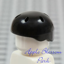 LEGO Skate Board Minifig BLACK HELMET - Friends Bicycle/Bike Sport Head Gear Hat