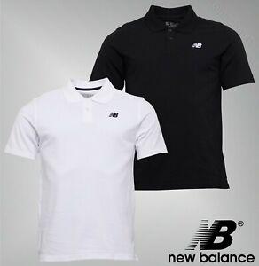 Mens New Balance Ribbed Collar Short Sleeve Polo Shirt Top Sizes ...