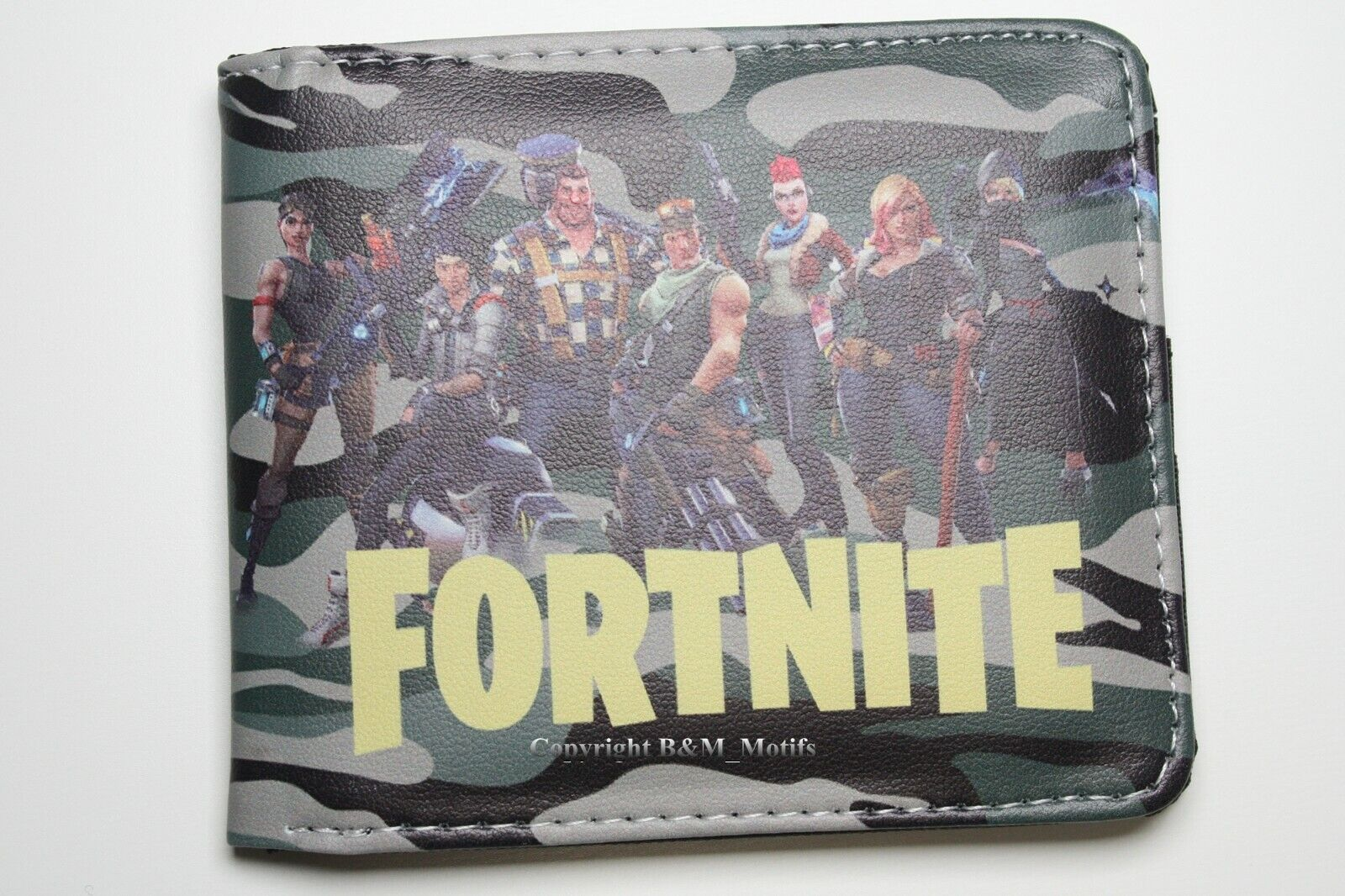 Fortnite Game Battle Royale Bifold Faux Leather Wallet Coins Cards Notes Photo