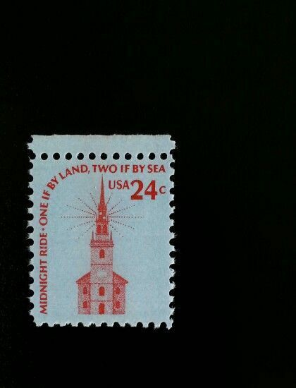 1975 24c Old North Church, Midnight Ride, Two If By Sea