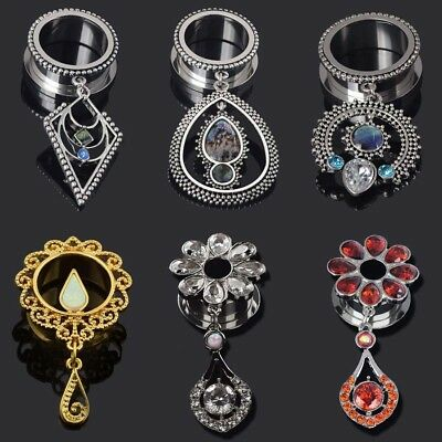 9 Different styles  Tunnels Acrylic Pair of  Dangle Ear Gauges Plugs Tunnels
