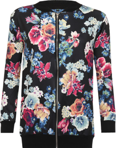 Ladies-Plus-Size-Colourful-Floral-Printed-Summer-Style-Curve-Bomber-Jacket-Top