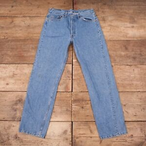 "Levis Made Denim Vintage 32 Red Jeans 501 34""x Mens 1990s Blue Tab Usa A5O0qxqw"