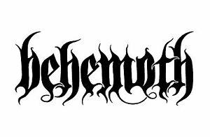 behemoth vinyl decal car window laptop speaker death metal band logo rh ebay com Behemoth Band Wallpaper behemoth band logo font