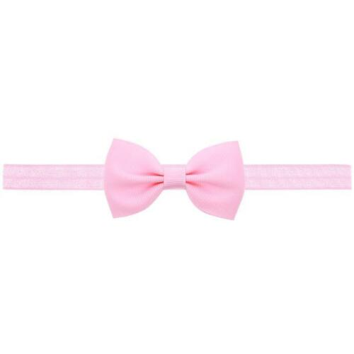 3pc Newborn Headband Ribbon Elastic Baby Headdress Girls Hair Band Girl Bow New