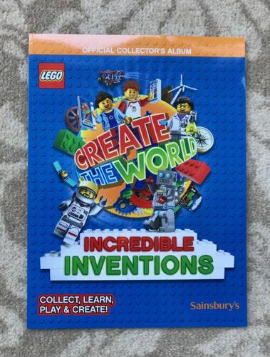Sainsbury/'s Lego officail Collector/'s Album-crear el mundo-Nuevo 8 Tarjetas