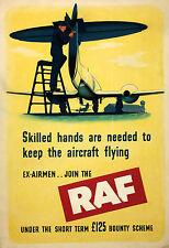 RAF World War 2 Recruiting Poster  9x6 inches Reprint