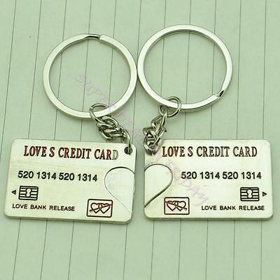 Lovely Credit Card Forever Key Chain Keyring Keyfob Lover Couple Cute Gift Ring