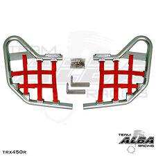 TRX 450R TRX450R Honda   Nerf Bars  Alba Racing   Silver bar Red nets 218 T1 SR