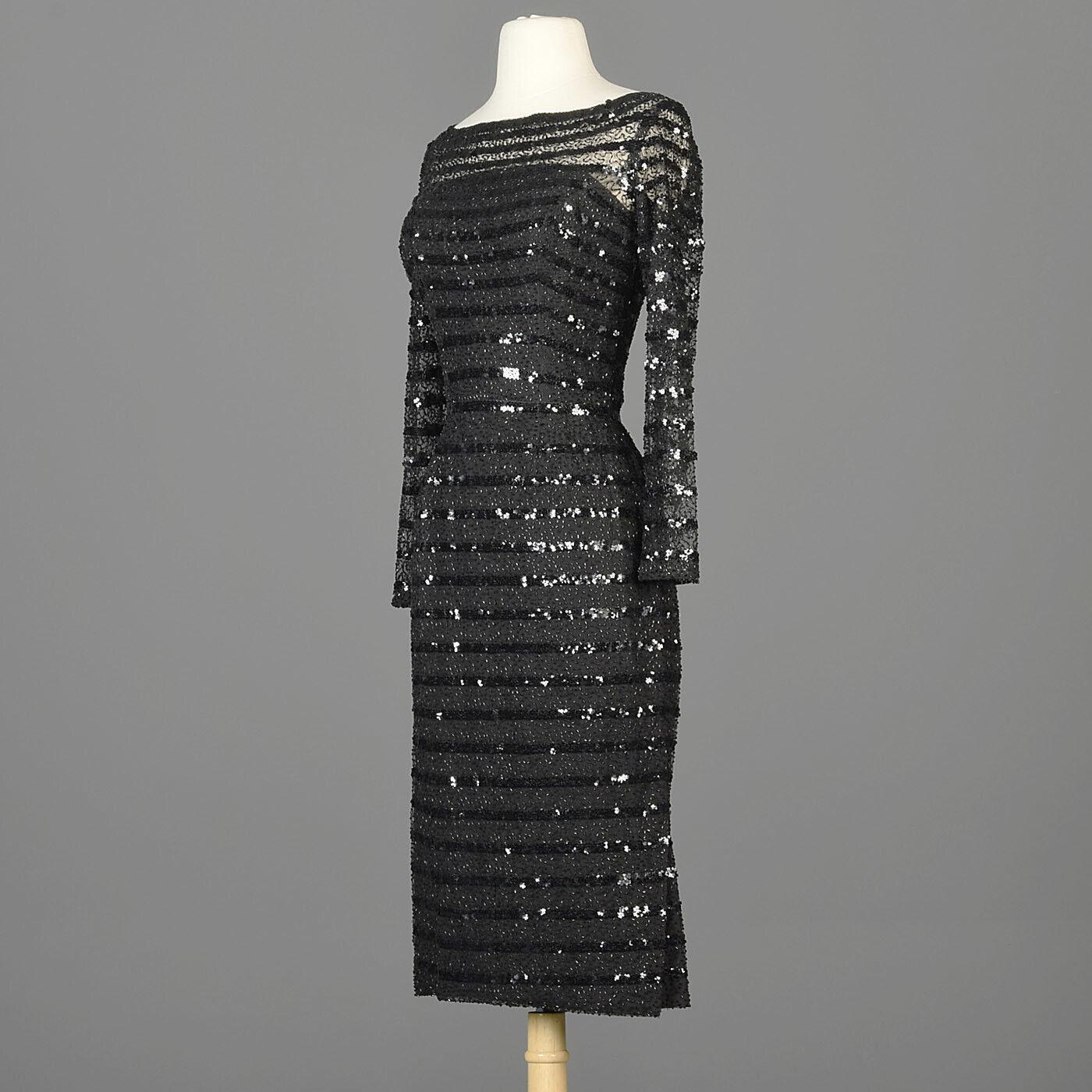 XXS Vintage 1960s 60s Ceil Chapman Long Sleeve Se… - image 2