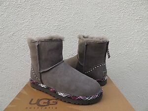 192fc4ee6bb Details about UGG CLASSIC MINI ROCK STUDS GRAY SUEDE/ SHEEPSKIN BOOTS, US  8/ EUR 39 ~NEW