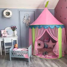 Large Cotton Canvas Kids Teepee Tent Childrens Wigwam Indoor Outdoor Play House & Tiny Land Princess Castle Play Tent for Children | eBay