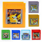 Games Cards Pokémon For Nintendo Pokémon GBC/GBA GameBoy XMAS Gifts US Version
