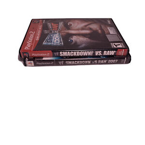 Lot-Of-WWE-SMACKDOWN-VS-RAW-2006-amp-2007-Playstation-2-PS2-As-Is-See-Description