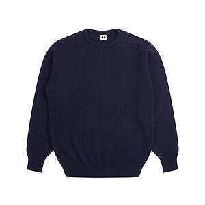 Community-Clothing-Men-039-s-Navy-Wool-Crew-Neck-Jumper