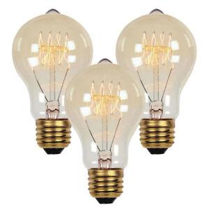 3 Pack E26 40W 60W Industrial Vintage Retro Edison Filament Light Bulb Lamp 110V