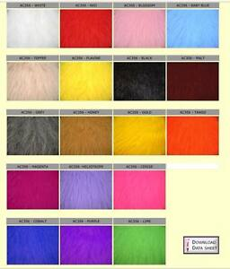 Luxury Long Haired Pile Faux Fur Fabric Material Various sizes & Colours PLUSH