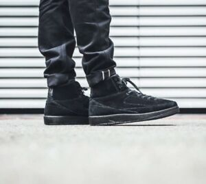 official photos 5a3f5 f6806 Details about Mens Nike Air Jordan 2 Retro Decon Trainers AJ MJ 23 Jumpman  Limited Edtn BLACK
