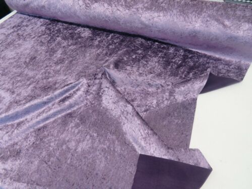 Luxury Bling Lilac Purple Heavy Crushed Velvet Curtain Fabric Upholstery Sofa
