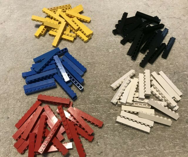 Lego 10 x piedra 3009 negro 1x6