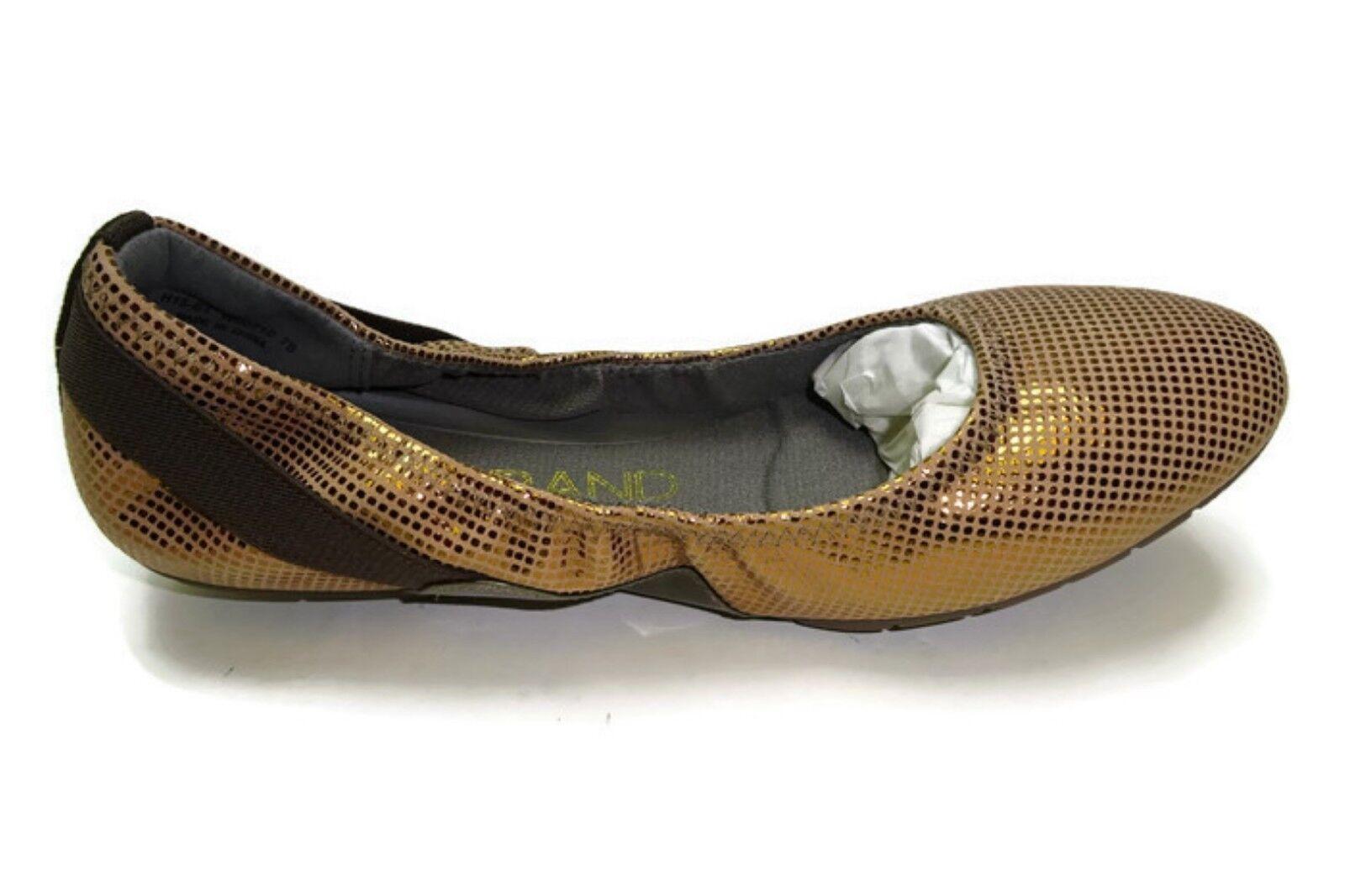 Cole Haan Women's Zerogrand Zerogrand Zerogrand Stagdr Bal Ballet Flat, Bronze Dot Print 9 B US ef3e54